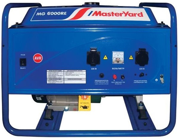 Бензогенератор MasterYard MG 6000RE
